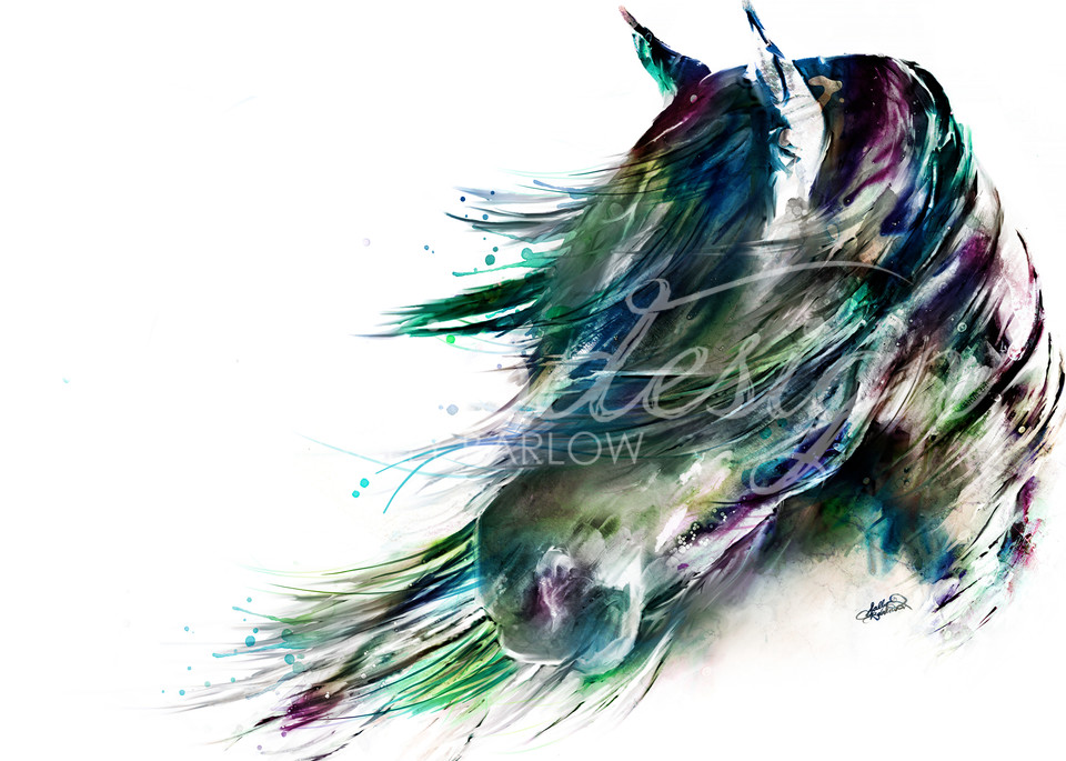 Colorful Abstract Horse Painting