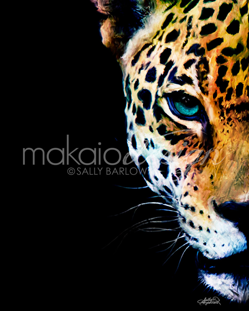 Stunning Jaguar painting by Sally Barlow