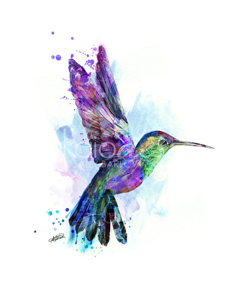 Colorful Hummingbird Painting