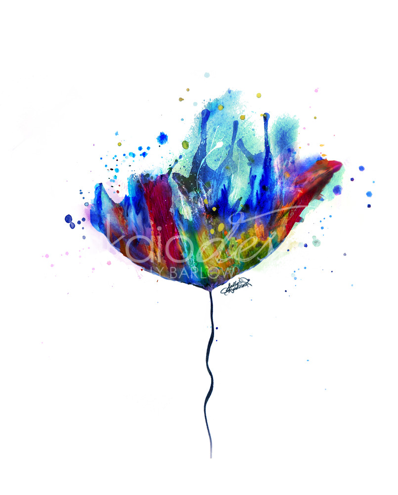 Bold and beautiful flower painting by Sally Barlow