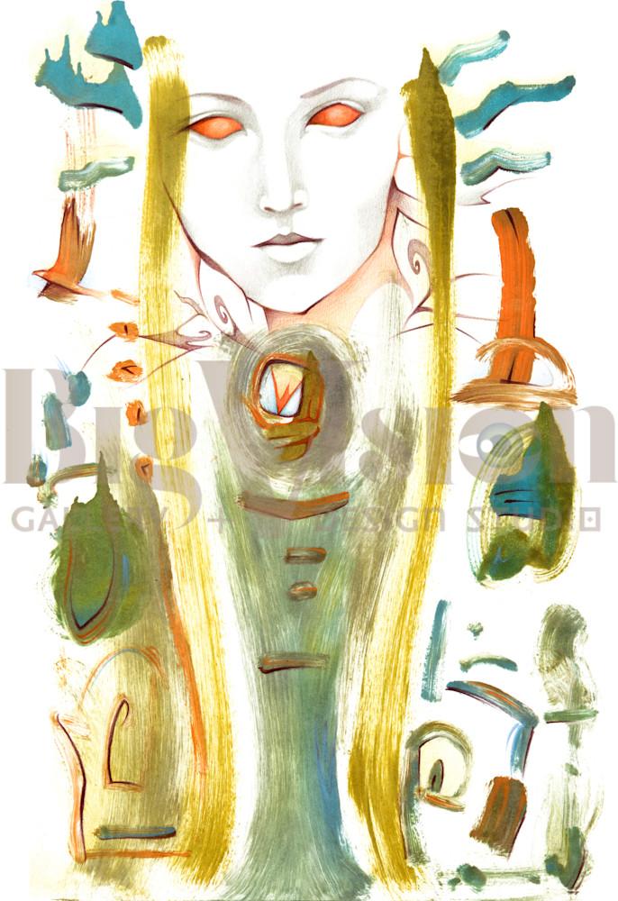 Red Angel Vortex Prints Art   Big Vision Art + Design