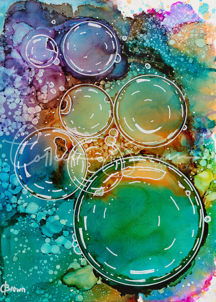 Rainbow Bubbles   Colourful Print Art | Colleen Brown Studio