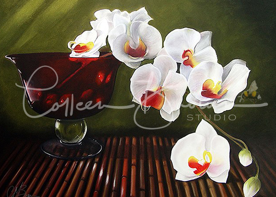Orchid Cascade Art | Colleen Brown Studio