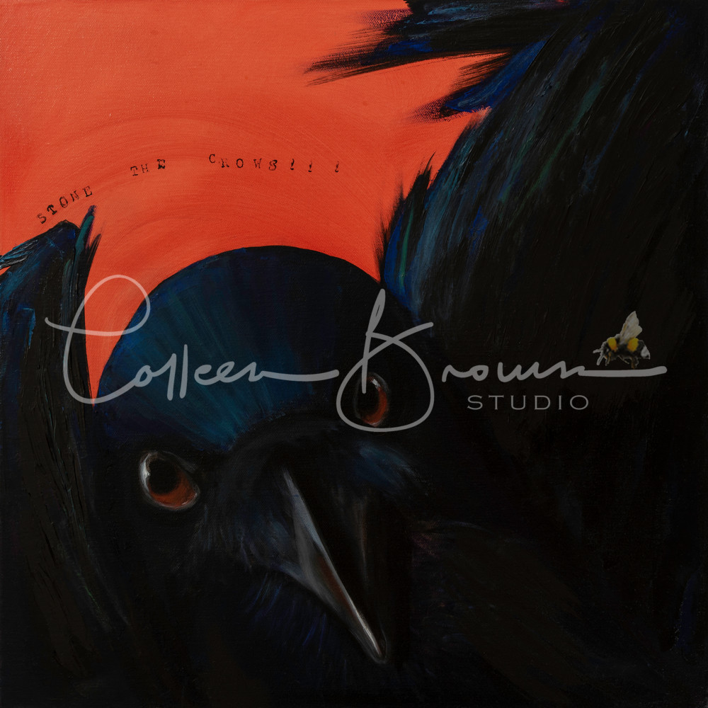 Stone the Crows - a bold bird painting
