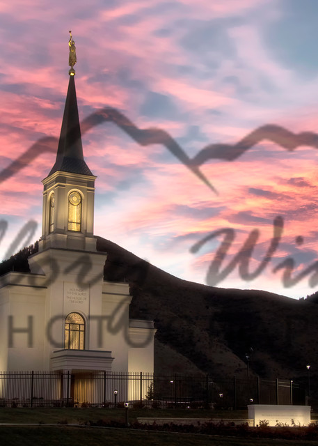 Star Valley Lds Temple Sunrise Photography Art   Mallory Winters Photography