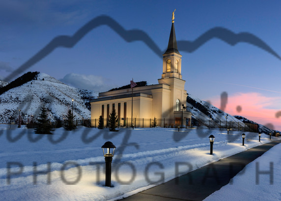 Star Valley LDS Temple Winter Sunrise