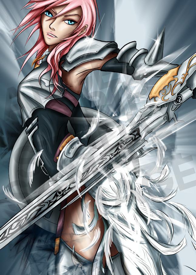 Lightening From Final Fantasy Art | Angel Trip Studio