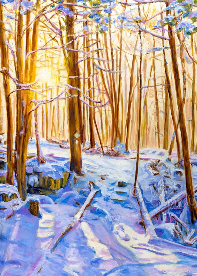Fine art (giclée) prints of Winter WanderLand, painting by Janet Jardine. Winter wonderland