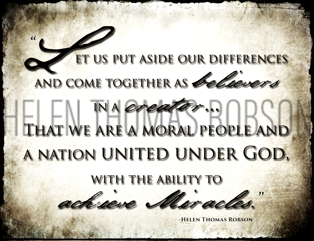 United To Achieve Miracles Art | Captured Miracles Production, and Helen Thomas Robson byDESIGN