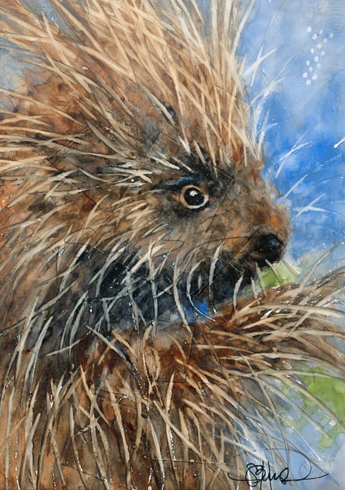 Mr. Friendly A Fine Art Painting by Pacific Northwest Artist Sarah B Hansen