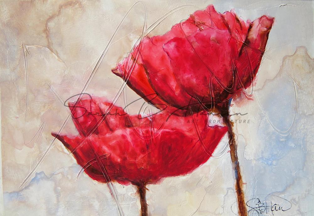 Italian Poppies A Fine Art Painting by Pacific Northwest Artist Sarah B Hansen