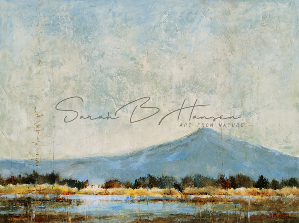 Gathering Thoughts at Evening's Edge-Painting and Prints by Sarah B Hansen