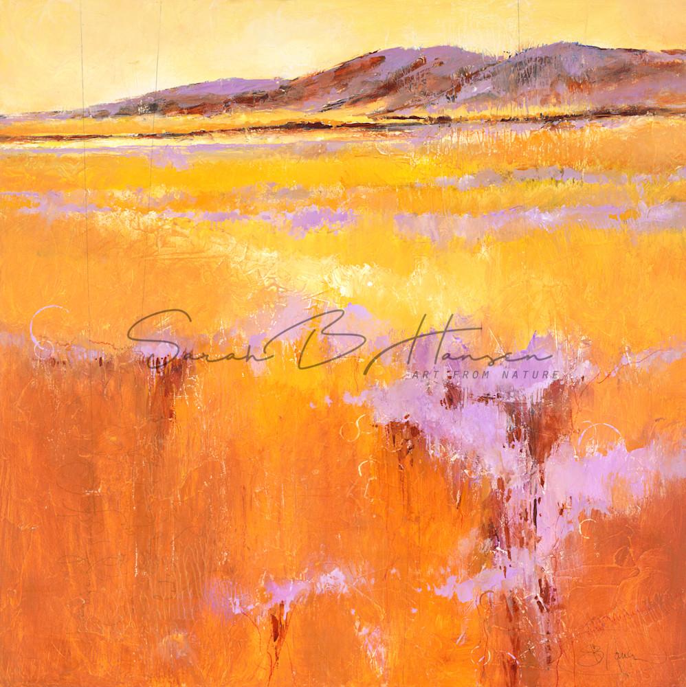 Mindful, landscape art painting by artist Sarah B Hansen