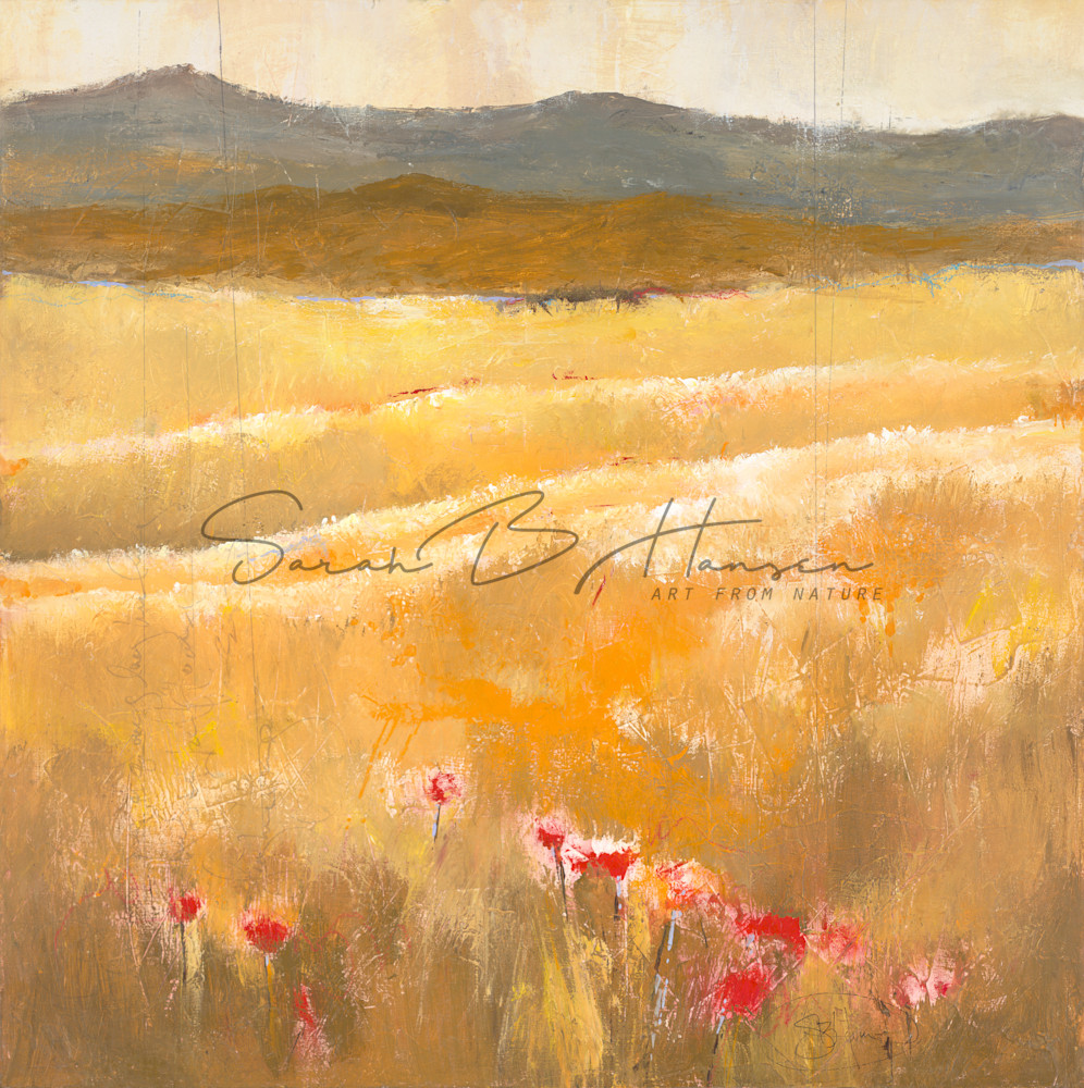 Between the Layers. landscape painting by artist Sarah B Hansen