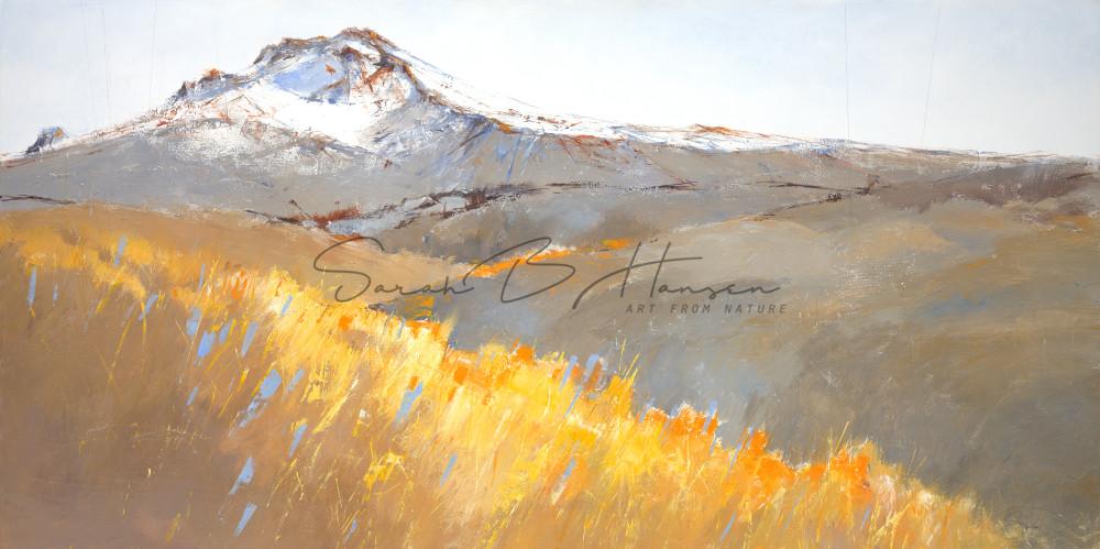 Balance, semi-abstract landscape art by artist Sarah B Hansen
