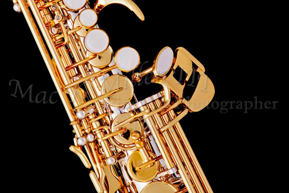 Wall Art Soprano Saxophone on Black 3354.01