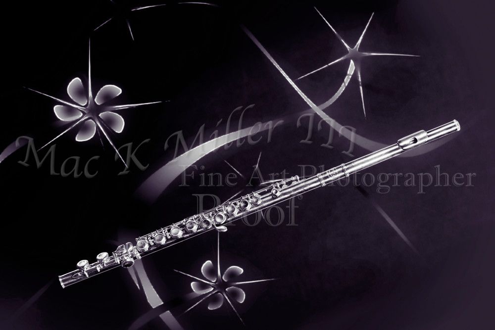 Monochrome Stars and Flute  Wall Art 3305.01