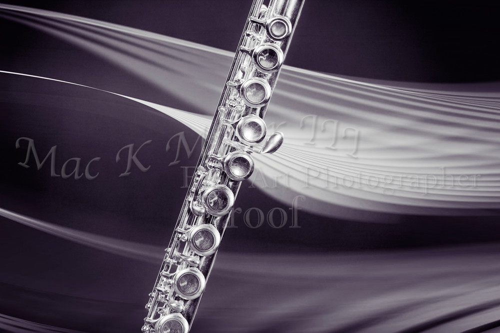 Flute In Space Metal Wall Art 3298.01
