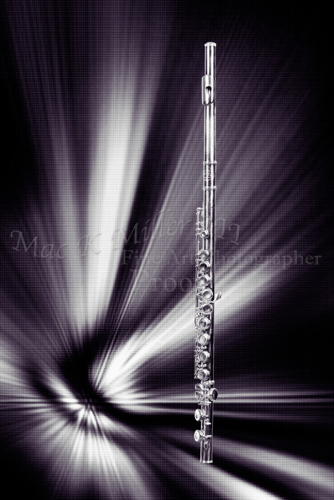 Flute in the Abstract Music Art 3301.01
