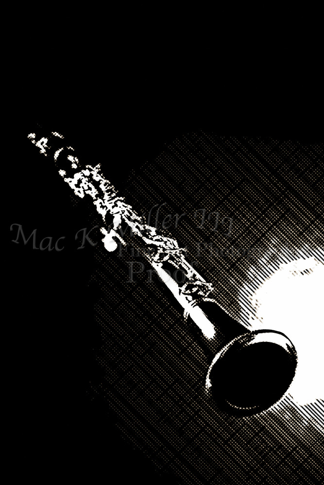 Music Art Clarinet Drawing in 3011.01