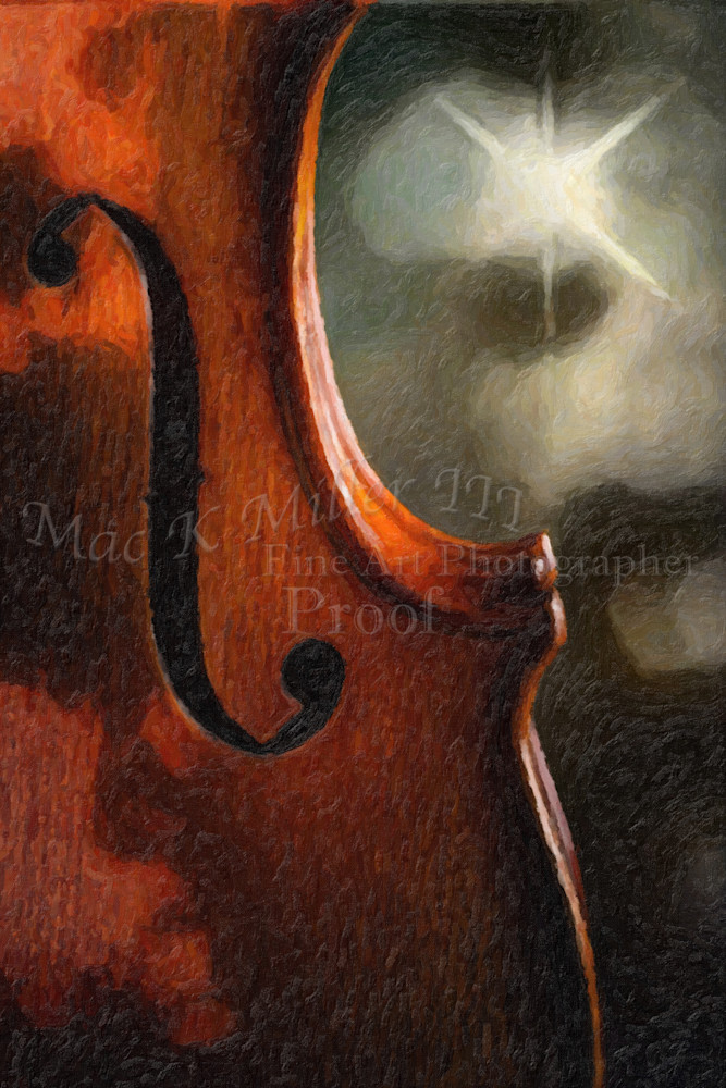 Night Sky Violin Wall Art Painting 1732.370