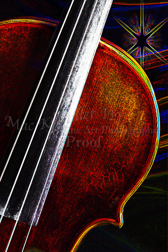 Violin Star Music Violin Dark Drawing 5012