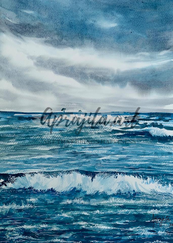 Waves, Aprajita Lal, watercolors, painting, original