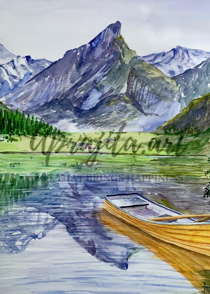 """""""The Yellow Boat"""" Art Print by Aprajita Lal"""