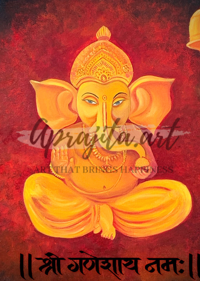 """Ganesha"" in Oils by Aprajita Lal"