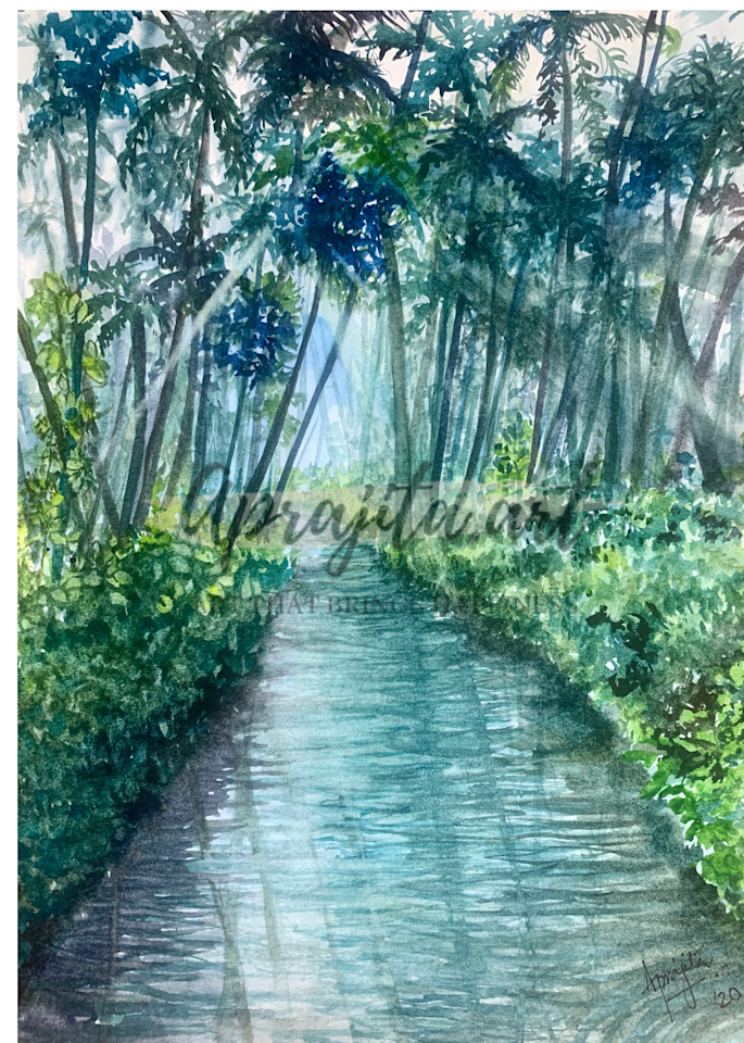 """Kerala: God's Own Country"" Art Print by Aprajita Lal"