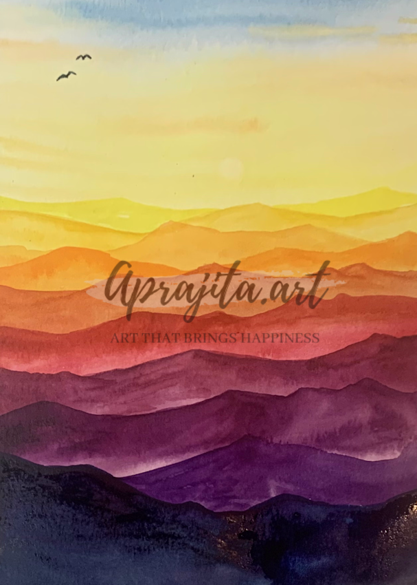 """""""Rainbow Hills"""" Art Print by Aprajita Lal"""