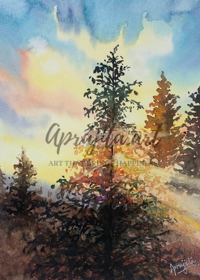 """""""The Drifting Morning"""" Art Print by Aprajita Lal"""