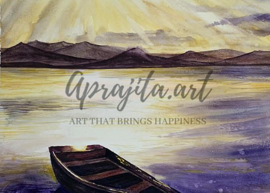"""""""See the light"""" in watercolors by Aprajita Lal"""