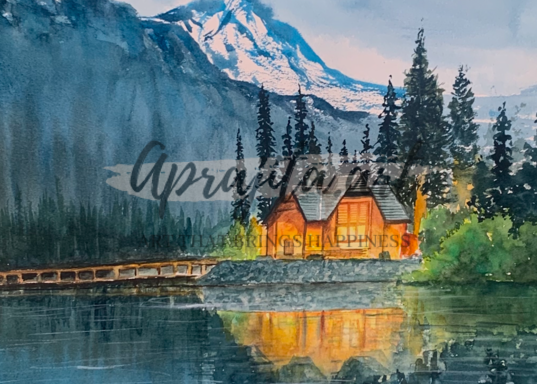"""Lone WIlderness"" in Watercolors by Aprajita Lal"