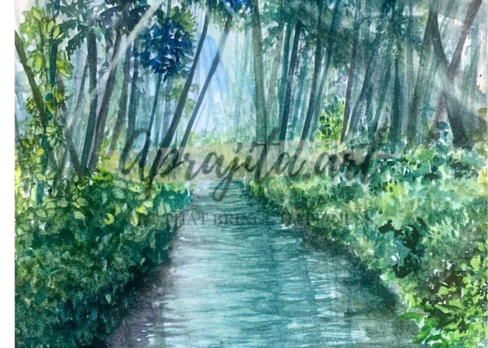 """""""Kerala: God's Own Country"""" Art Print by Aprajita Lal"""