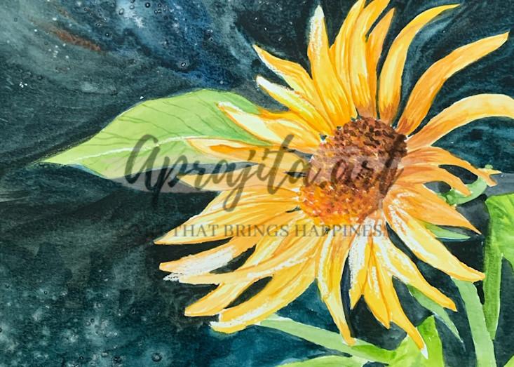"""Sunflower"" Art Print by Aprajita Lal"