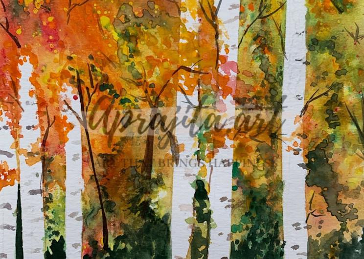 """""""Aspens"""" Art Print by Aprajita Lal"""