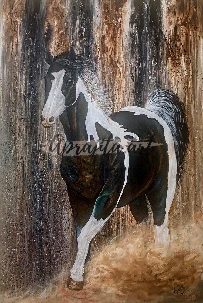 """Pure Spirit"" in acrylics by Aprajita Lal"