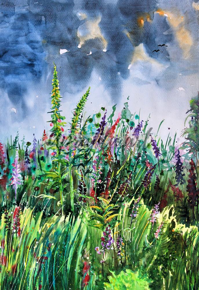 """The First Rain"" in Watercolors by Aprajita Lal"