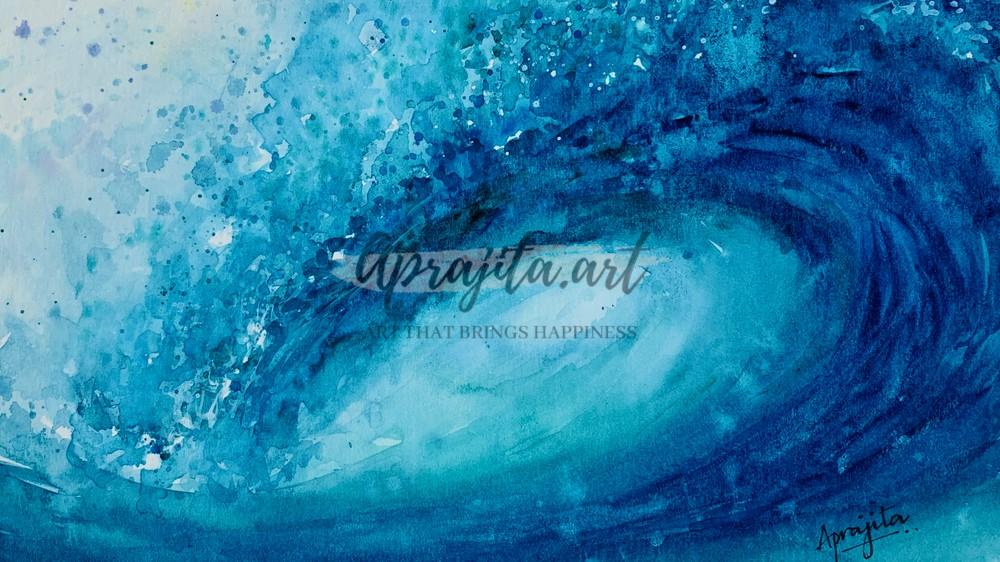 crashing wave by Aprajita Lal