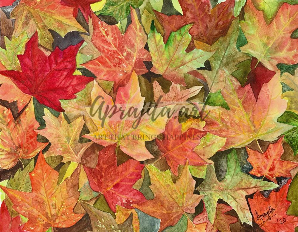"""Fall Vibes"" in Watercolors by Aprajita Lal"