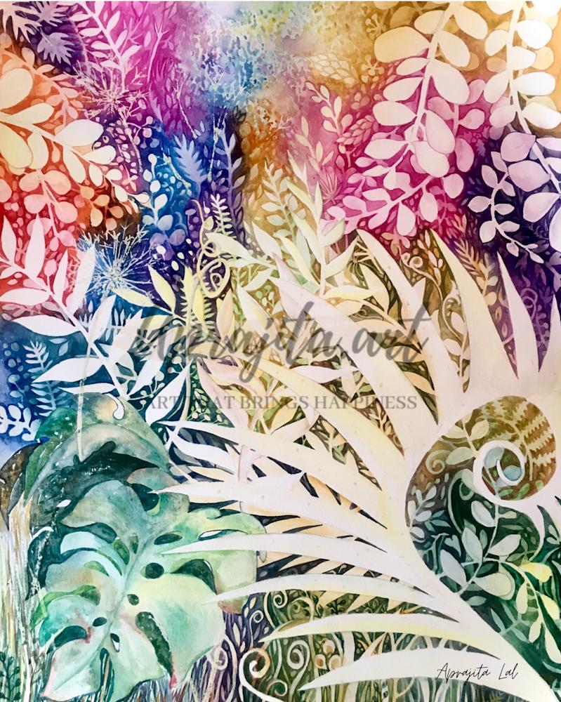"""Spring of 2019"" in Watercolors by Aprajita Lal"