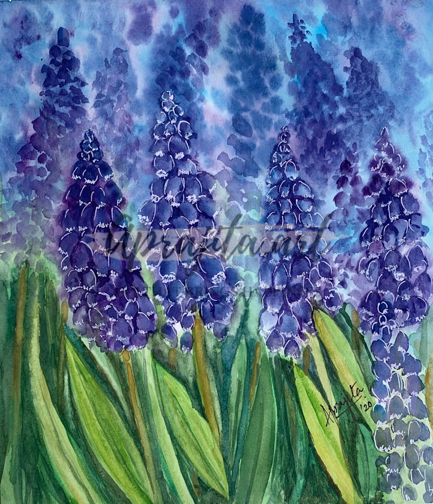 """""""Purple Blooms"""" Art Print by Aprajita Lal"""