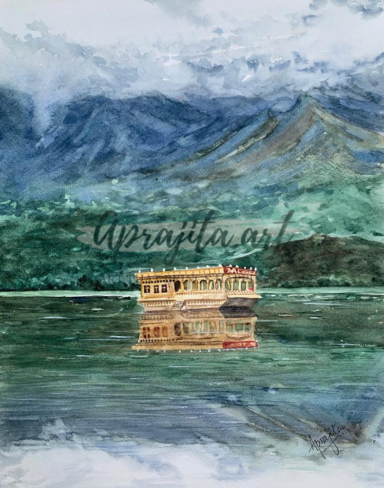 """""""The Calm of Dal Lake Srinagar"""" Art Print by Aprajita Lal"""
