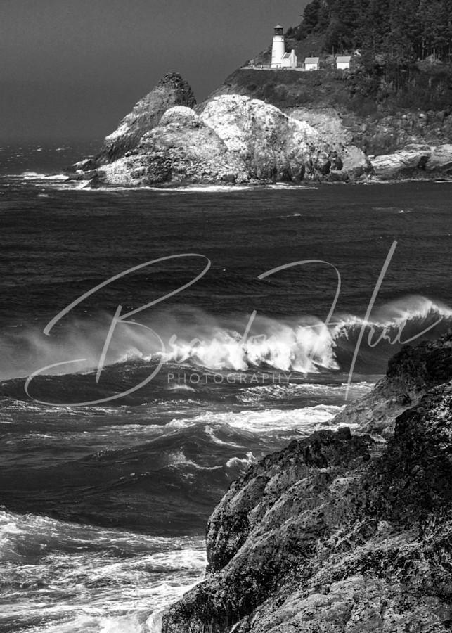 Heceta Head Lighthouse Art   Brandon Hirt Photo