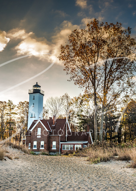 Presque Isle Lighthouse Art | Brandon Hirt Photo
