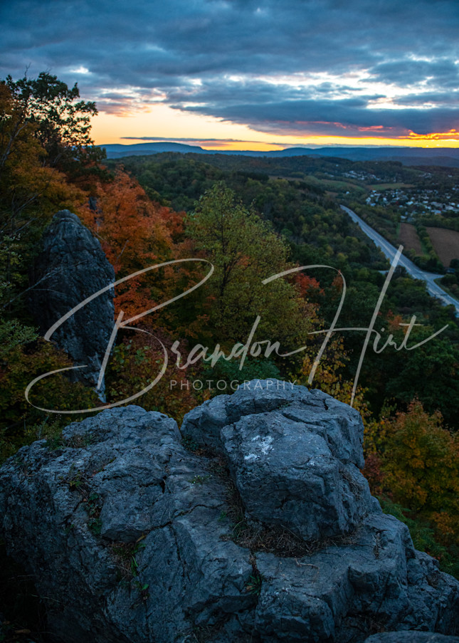 Hollidaysburg's Chimney Rocks at Sunset