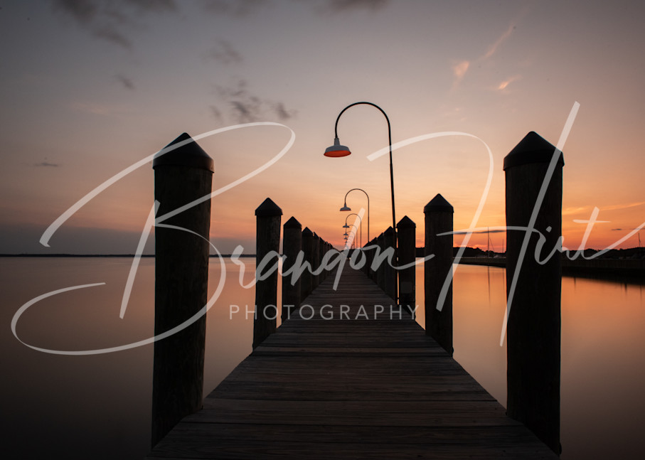 Rusty Rudder Dock Sunset Art | Brandon Hirt Photo