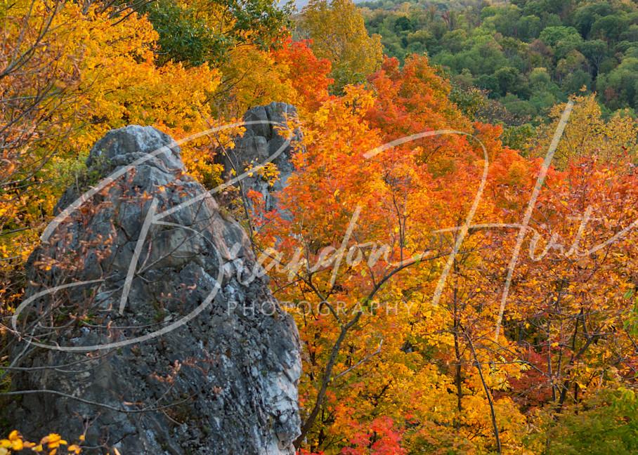 Chimney Rocks Autumn Art   Brandon Hirt Photo