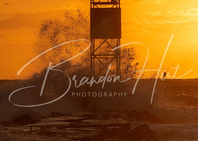 Indian River Inlet Splash Art | Brandon Hirt Photo